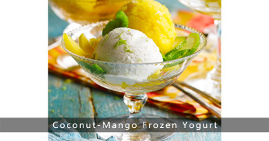 Coconut-Mango Frozen Yogurt
