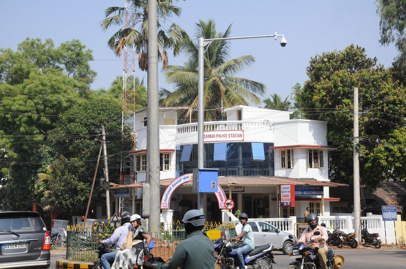 CCTV Camera Installed in front of the Nazarbbab Police Station
