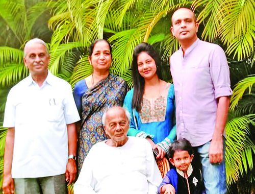 With family members