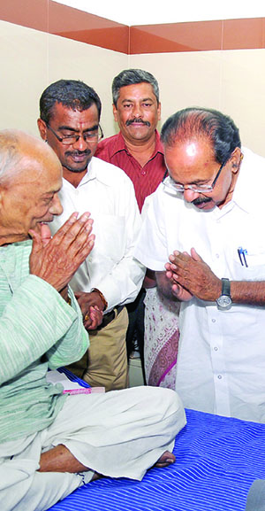 With Former CM M Veerappa Moily