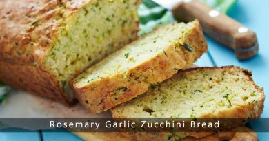 Rosemary Garlic Zucchini Bread