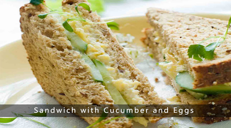 Sandwich with Cucumber and Eggs