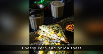 Cheesy corn and onion toast