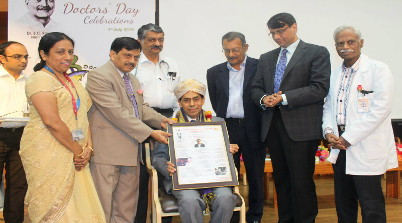Dr Thimmappa Hegde felicitated by JSS Hospital