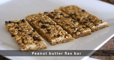 Peanut butter flax bar