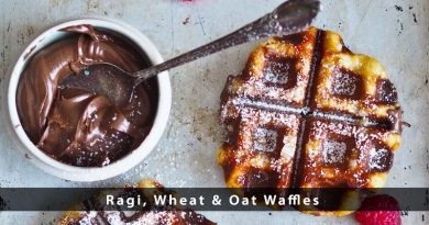 Ragi, Wheat & Oat Waffles