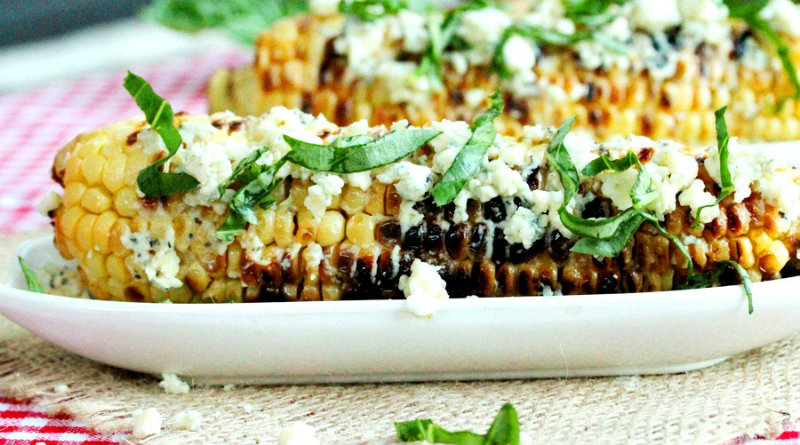 Grilled Cheesy Corn-On-The-Cob Recipe — Dishmaps