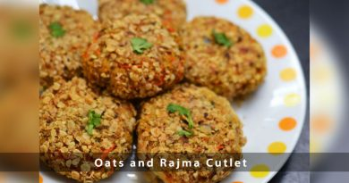 Oats and Rajma Cutlet