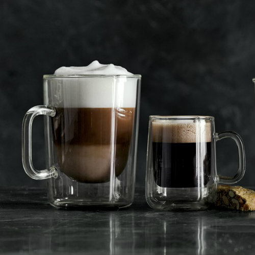 Double Walled Glass Coffee Mugs