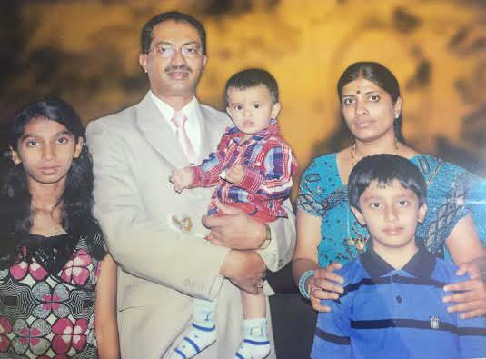 Dr Sadashive Gowda with his Family