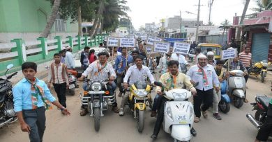 Bike rally- Tanveer sait followers
