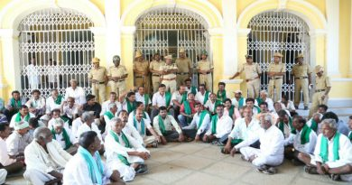 Farmers stage protest for a hike in FRP for sugarcane