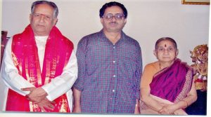 With my Guru Prof. Vishweshwaran and his wife Usha Vishweshwaran