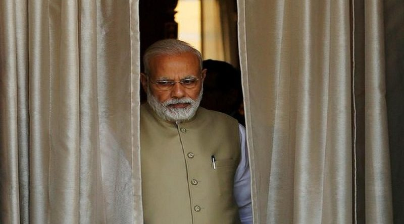 India's Prime Minister Narendra Modi comes out of a room to receive his Australian counterpart Malcolm Turnbull before a photo opportunity ahead of their meeting at Hyderabad House in New Delhi, India, April 10, 2017. REUTERS/Adnan Abidi