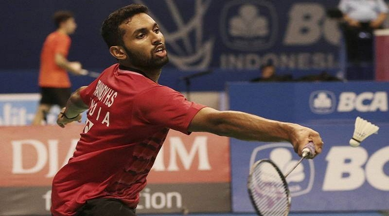 Jakarta : India's HS Prannoy plays against Malaysia's Lee Chong Wei during the second round of the Indonesia Open badminton championship in Jakarta, Indonesia, Thursday, June 15, 2017. AP/PTI Photo(AP6_15_2017_000162B)