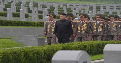 North Korean leader Kim Jong Un visits war graves to pay respect to war dead for the 64th anniversary of the armistice which ended the Korean War, in this undated photo released on July 28, 2017 by North Korea's Korean Central News Agency (KCNA) in Pyongyang. KCNA/via REUTERS ATTENTION EDITORS - THIS PICTURE WAS PROVIDED BY A THIRD PARTY. REUTERS IS UNABLE TO INDEPENDENTLY VERIFY THE AUTHENTICITY, CONTENT, LOCATION OR DATE OF THIS IMAGE.  NO THIRD PARTY SALES. NOT FOR USE BY REUTERS THIRD PARTY DISTRIBUTORS. SOUTH KOREA OUT. THIS PICTURE IS DISTRIBUTED EXACTLY AS RECEIVED BY REUTERS, AS A SERVICE TO CLIENTS.