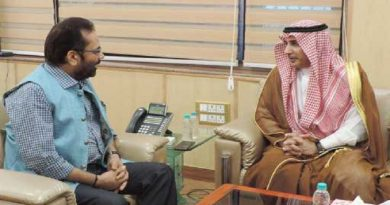 The Ambassador of Saudi Arabia to India, Dr. Mohammed Alsati meeting the Minister of State for Minority Affairs (Independent Charge) and Parliamentary Affairs, Shri Mukhtar Abbas Naqvi, in New Delhi on August 16, 2017.