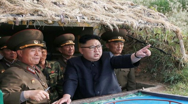 North Korean leader Kim Jong Un inspects the defence detachment on Jangjae Islet and the Hero Defence Detachment on Mu Islet located in the southernmost part of the waters off the southwest front, in this undated photo released by North Korea's Korean Central News Agency (KCNA) on May 5, 2017. KCNA/ via REUTERSATTENTION EDITORS - THIS PICTURE WAS PROVIDED BY A THIRD PARTY. REUTERS IS UNABLE TO INDEPENDENTLY VERIFY THE AUTHENTICITY, CONTENT, LOCATION OR DATE OF THIS IMAGE. FOR EDITORIAL USE ONLY. NOT FOR SALE FOR MARKETING OR ADVERTISING CAMPAIGNS. NO THIRD PARTY SALES. NOT FOR USE BY REUTERS THIRD PARTY DISTRIBUTORS. SOUTH KOREA OUT. NO COMMERCIAL OR EDITORIAL SALES IN SOUTH KOREA. THIS PICTURE IS DISTRIBUTED EXACTLY AS RECEIVED BY REUTERS, AS A SERVICE TO CLIENTS.      TPX IMAGES OF THE DAY