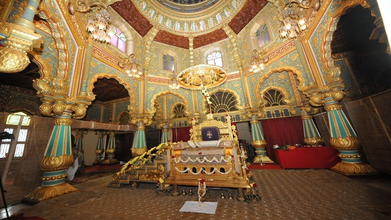 Now Tourists May Get A Glimpse Of Golden Throne At Mysuru Palace
