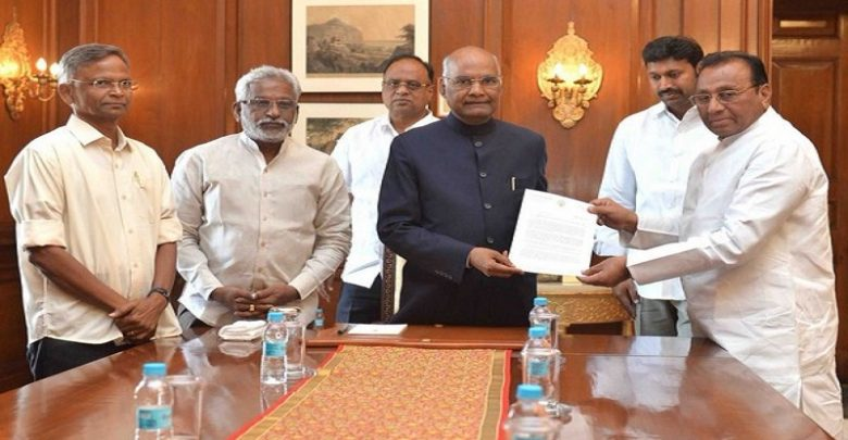 Special status for andhra ysrcp seeks president kovind 39 s for Andhra cuisine dishes