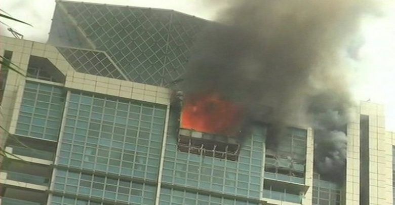 Fire breaks out in Mumbai skyscraper - Mysuru Today